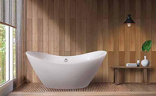 AKDY 67 Smooth Glossy Freestanding Bathtub