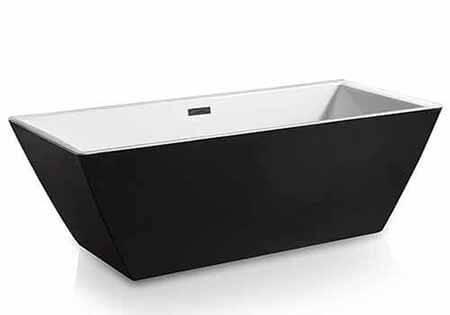 AKDY F273 Bathroom Black Color Acrylic Free Standing Bathtub