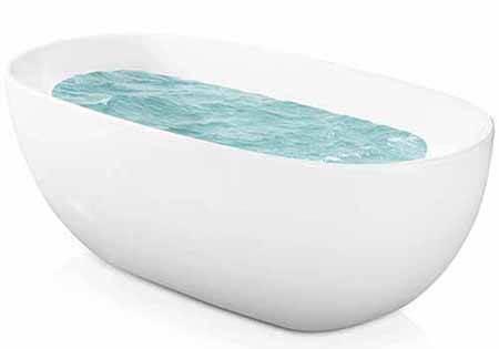 AKDY F277 Bathroom White Color Acrylic Free Standing Bathtub