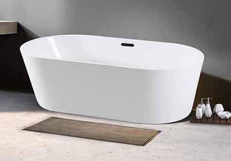 FerdY 67 Acrylic Freestanding Soaking Bathtub