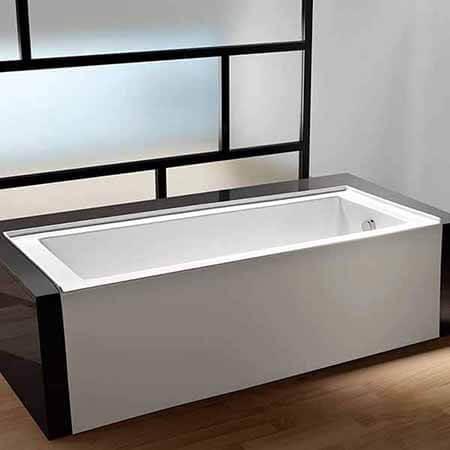 KINGSTON BRASS VTDE603122R Acrylic Contemporary Alcove Bathtub