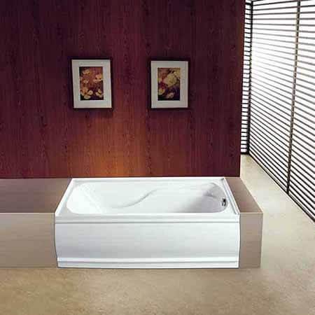 KINGSTON BRASS VTDE603221L Acrylic 60-Inch Alcove Bathtub