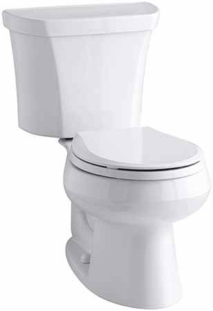 KOHLER K-3987-RA-0 Wellworth Round-Front Dual-Flush Toilet
